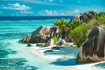 Plakat Najpiękniejsza plaża w Seszele - Anse Source D'Argent