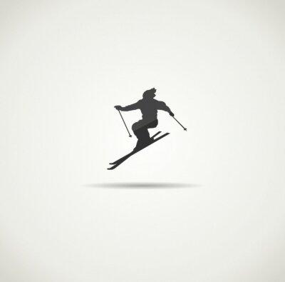 Plakat narciarz