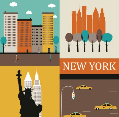Plakat New York.