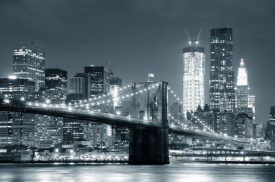 Plakat New York City Brooklyn Bridge
