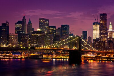 Plakat New-York pont de Brooklyn