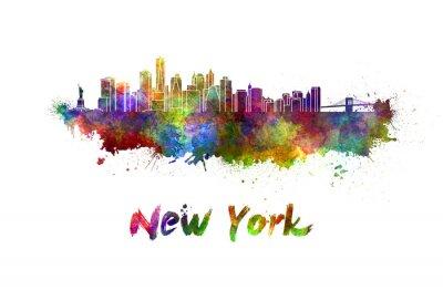Plakat New York Skyline w akwarela