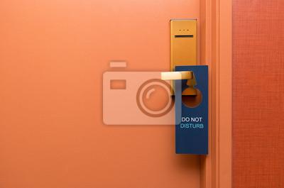Plakat Nie przeszkadzać