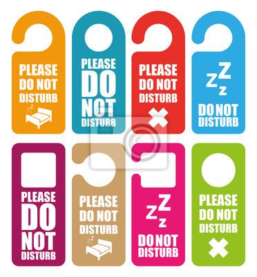 Plakat Nie przeszkadzać wieszak drzwi
