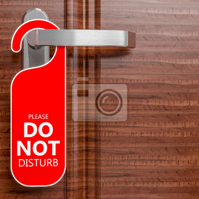 Plakat nie przeszkadzaj proszę
