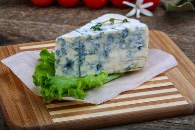 Plakat Niebieski ser