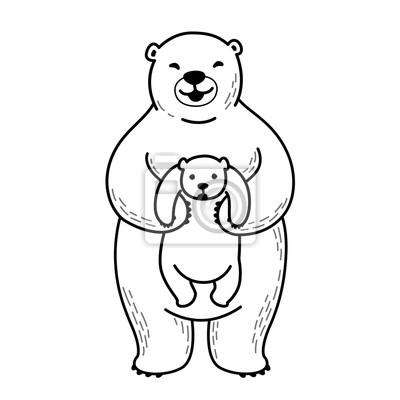Niedźwiadkowa świetlicowa Biegunowa niedźwiadkowa wektorowa ilustracyjna biała kreskówka
