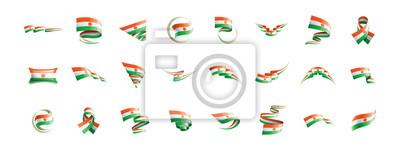 Niger flag, vector illustration on a white background