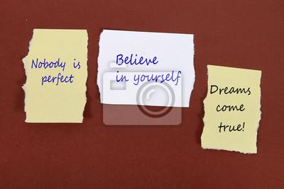 Nikt Nie Jest Idealny Uwierz W Siebie Marzenia Się Spełniają