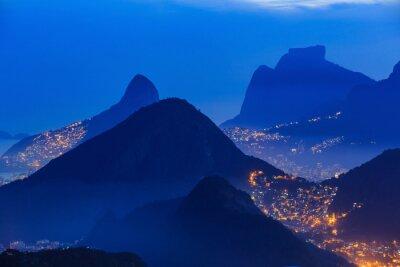 Plakat Nocny widok z Rio de Janeiro