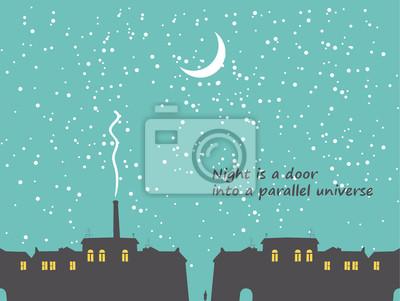nocy miasta z gwiazd i księżyca