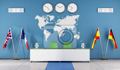 Plakat Nowoczesne Klasie Szkoły Językowej