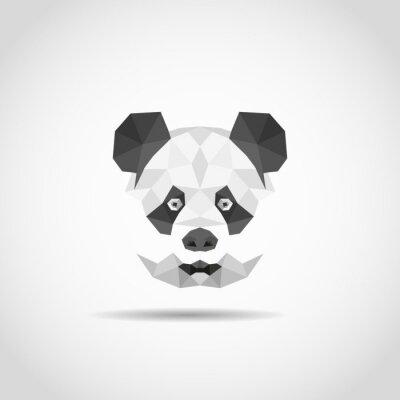 Plakat Nowoczesne panda w stylu wielokąta