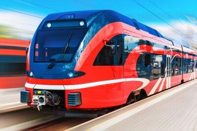 Plakat Nowoczesny pociąg dużych prędkości