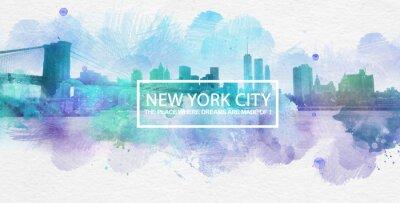 Plakat Nowy Jork, gdzie sny są wykonane pocztówki