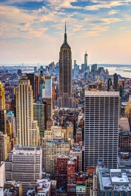 Plakat Nowy Jork o zmierzchu