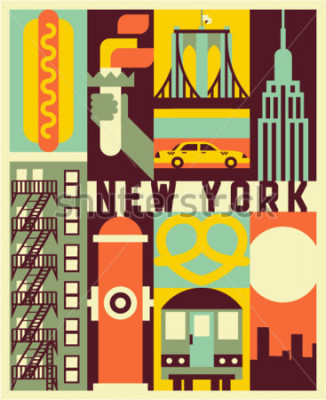 Plakat Nowy Jork tło