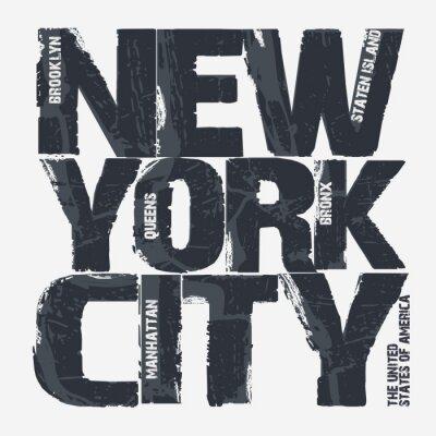 Plakat Nowy Jork Typografia Projektowanie