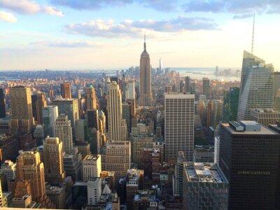 Plakat Nowy Jork vista al tramonto da Top of the Rock