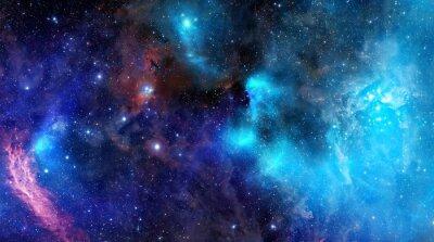 Plakat obłok gazu mgławica w głębokiej przestrzeni kosmicznej