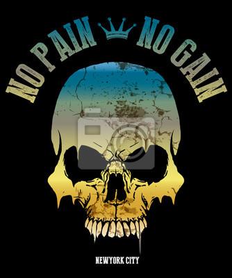obraz czaszki / ilustracja czaszki / zła czaszka / plakaty koncertowe / czaszka wydruk na płótnie / tatuaż czaszki / czaszka / akwarela / Czaszka czarna czaszka / Ludzka czaszka na białym tle / T-shir