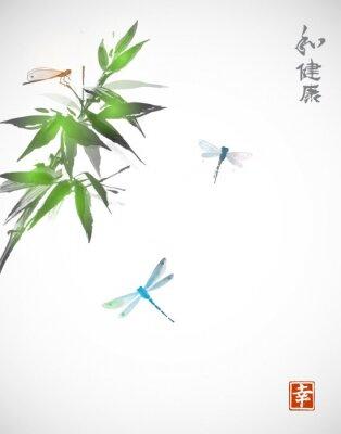 Plakat Oddział bambusa i trzy Wa