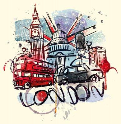 Plakat Odwiedź Londyn