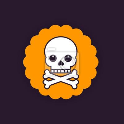 Odznaka czaszki i kości