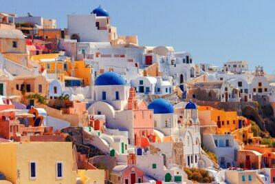 Plakat Oia cityscape, Santorini