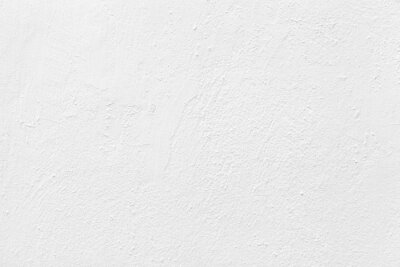 Plakat Old cement wall painted white texture and seamless background