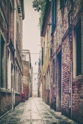 Plakat Old Street View w Wenecji, Włochy.