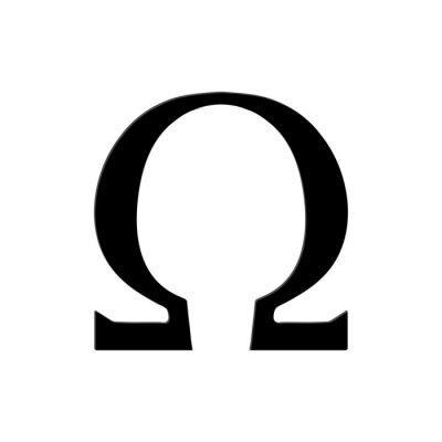 Plakat Omega Symbol