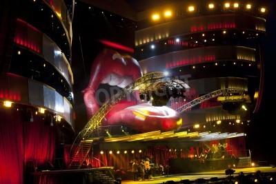 Plakat OSLO - 8 sierpnia: Rolling Stones posiada koncert na Valle Hovin w Oslo 08 sierpnia 2007 w Oslo, Norwegia