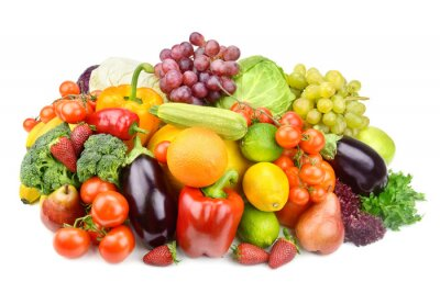 Plakat owoce i warzywa
