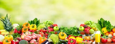Plakat Owoce i warzywa.