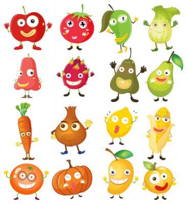 Plakat Owoce i warzywa z Facebook