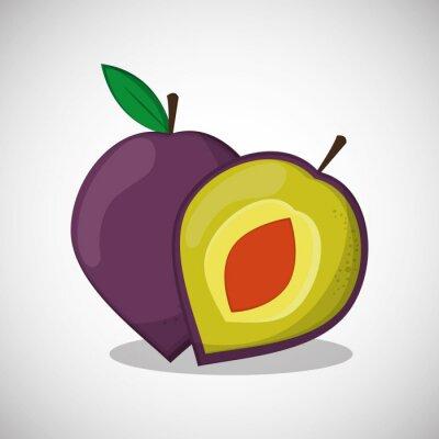 Plakat Owoce ikonę projektowania