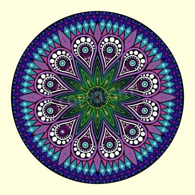Plakat ozdobne koronki okrągły wzór, okrąg tła z wieloma szczegółami, wygląda jak szydełkowanie ręcznie koronki