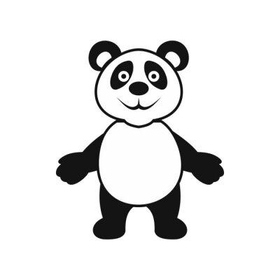 Plakat Panda Bear ikona, prosty styl