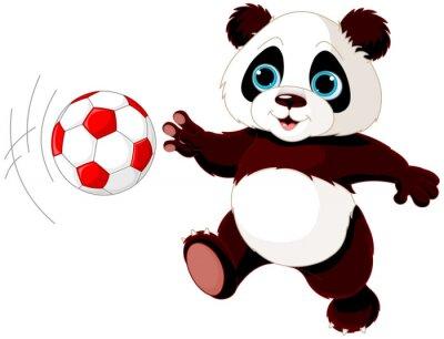 Plakat Panda uderza piłkę
