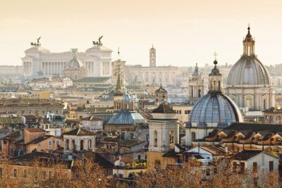 Plakat Panorama of old town in Rome, Italy