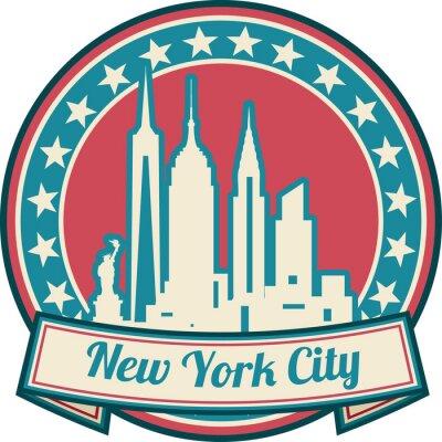 Plakat Panoramę Nowego Jorku