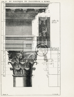 Plakat Panteon w Rzymie VIII