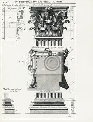Plakat Panteon w Rzymie X