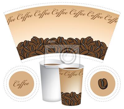 papierowy kubek na kawę