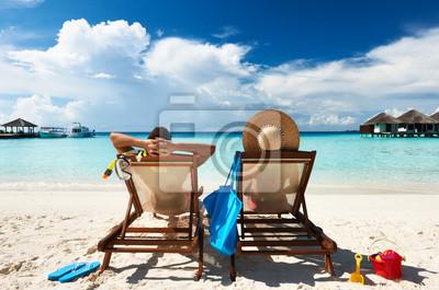 Plakat Para na plaży