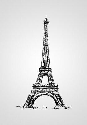 Plakat Paris sztuki projektowania ilustracji