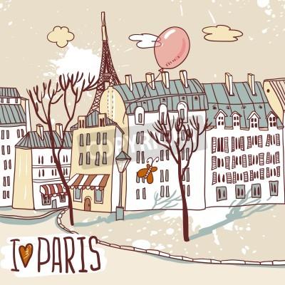 Plakat paris urban sketch