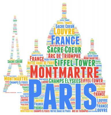 Plakat Paris wordcloud