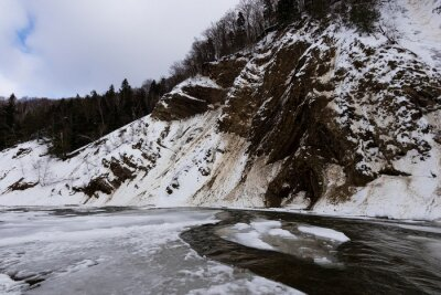 Plakat Part of Wislok river canyon called